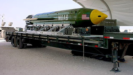 The GBU-43/B Massive Ordnance Air Blast (MOAB) © Elgin Air Force Base
