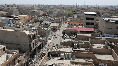 General view of destroyed buildings in Mosul © Marko Djurica