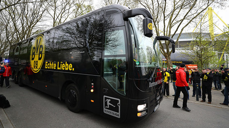 The Dortmund team bus © Kai Pfaffenbach Livepic