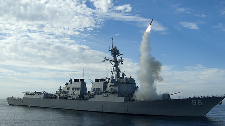 FILE PHOTO: The guided-missile destroyer USS Preble (DDG 88) © Woody Paschall / U.S. Navy photo