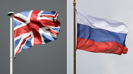 British (L) and Russian flags © Global Look Press