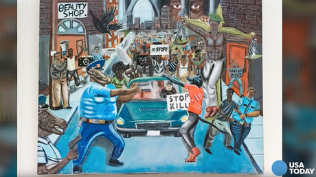Judge hogties free speech lawsuit over Ferguson cops-as-pigs painting