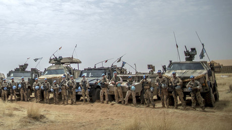 German soldiers from the UN contingent MINUSMA. Camp Castor in Gao, Mali. ©Michael Kappeler