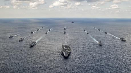 FILE PHOTO. U.S. Navy and Japan Maritime Self-Defense Force ships. © U.S. Navy
