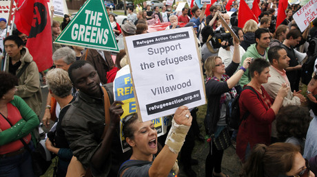FILE PHOTO: Activists in support of refugees claiming asylum in Australia rally, Sydney © Tim Wimborne