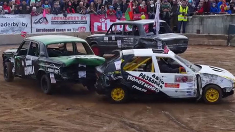 Mad Max-style? Cars meet in mortal combat during Minsk survival race