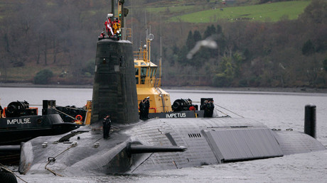 HMS Vengeance, a British Royal Navy Vanguard class Trident Ballistic Missile Submarine © David Moir