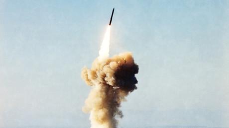 FILE PHOTO: Minuteman III missile © Lee Corkran / Getty Images