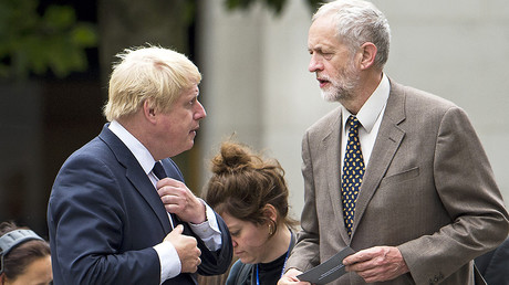 FILE PHOTO: Boris Johnson (L) and  Jeremy Corbyn (R) © Ben Cawthra / Global Look Press