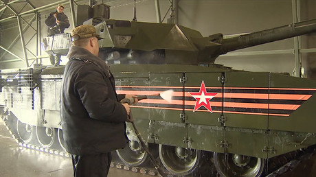 Armata tanks among military hardware for V-Day parade in Moscow, Russia
