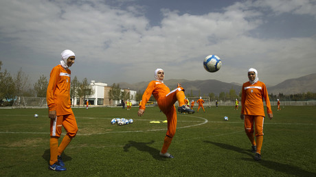 Members of Iran's women's national soccer team © Caren Firouz