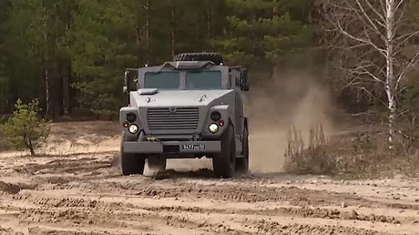 Russian 'Medved' armored vehicle shows off defense capabilities