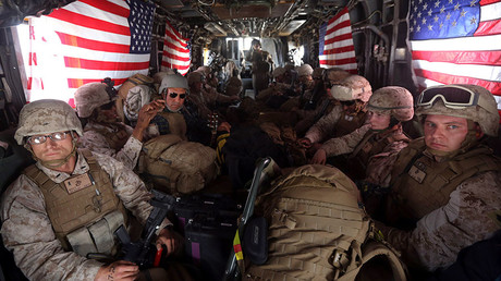 US Marines at Kandahar air base upon the end of combat operations in Helmand October 27, 2014. © Omar Sobhani
