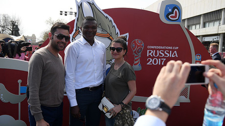 French legend Desailly opens 2017 Confederations Cup Park in Moscow (VIDEO)
