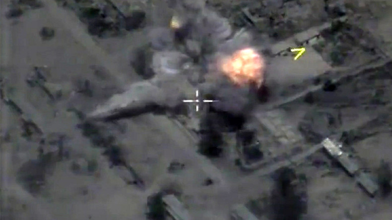 Drone Footage Shows Russian Cruise Missiles Hit Isis