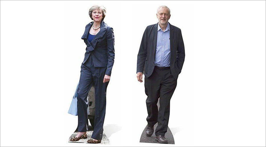 Cutting remarks: Cardboard effigies of May & Corbyn face off in Amazon product review threads
