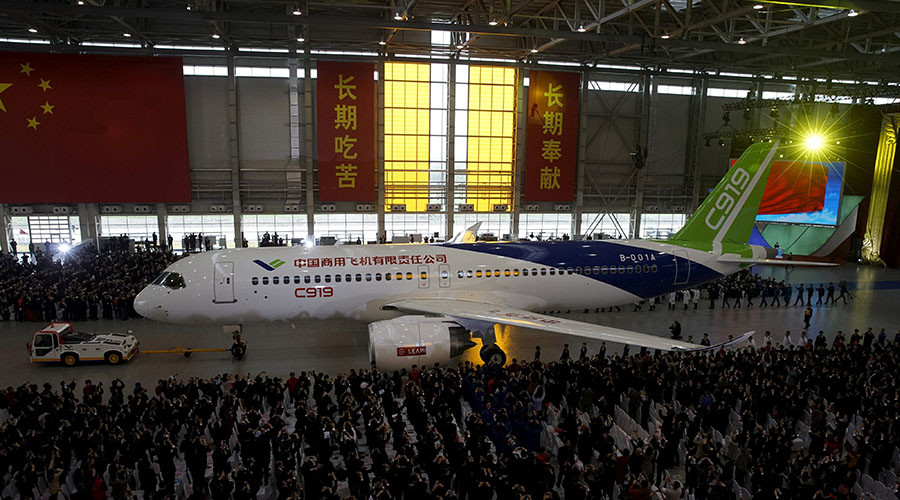 China's first large passenger jet prepares for its maiden flight