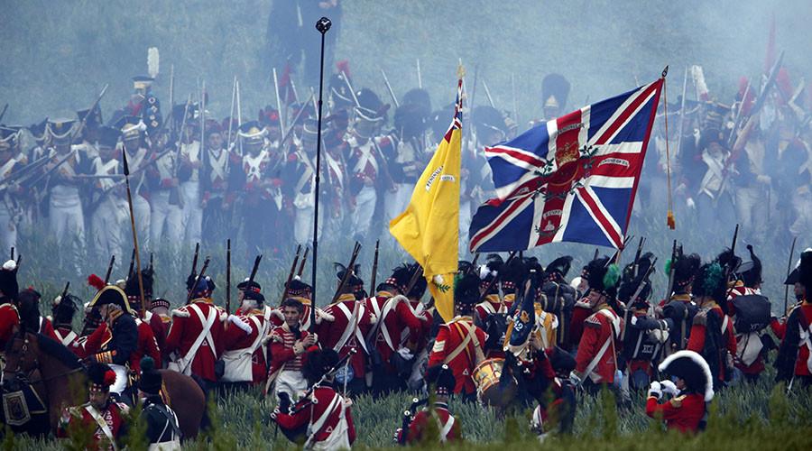 Union Jack flown at Battle of Waterloo found in shoebox