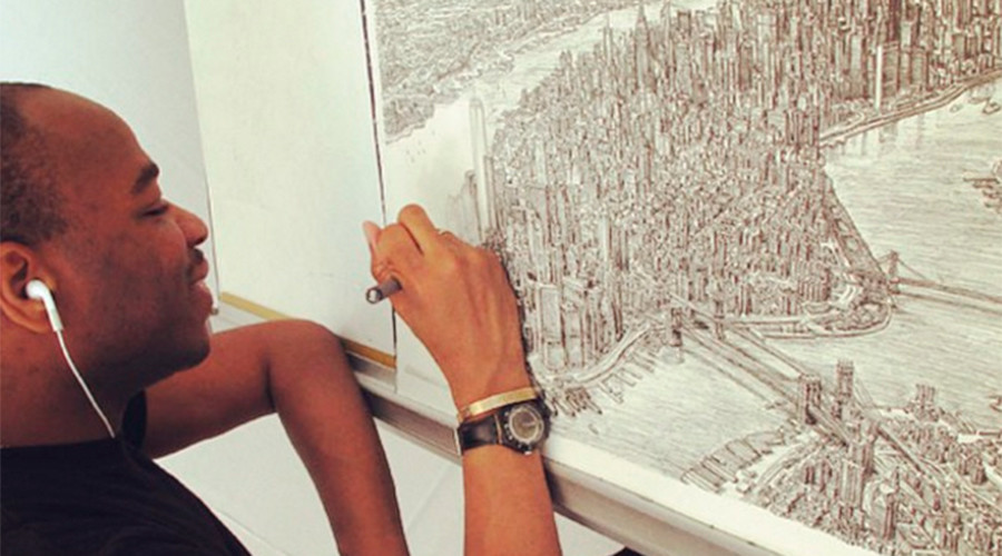 Artist sketches incredibly detailed drawings of world's major cities (PHOTOS, VIDEO)