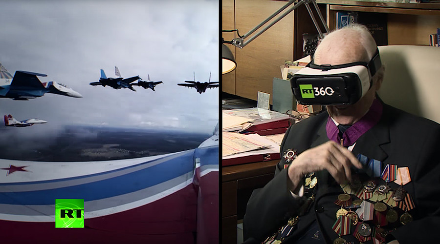 99yo Soviet WWII pilot takes to skies again watching RT's 360 VR footage (VIDEO)