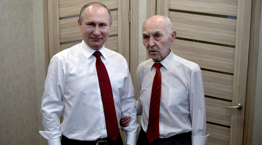 Russian President Vladimir Putin surprises former boss, celebrates his 90th birthday