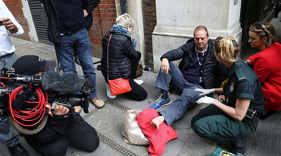 BBC cameraman 'run over by Jeremy Corbyn's car'