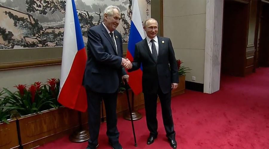 Czech president says Putin 'forbids' Lavrov from smoking, jokes about 'liquidating' journalists