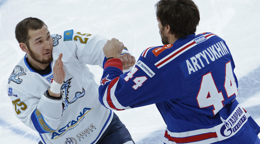 Hockey enforcer banned for life in KHL gets MMA offer from Fight Nights Global