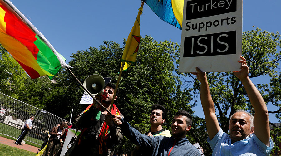 'Erdogan guards' brutally attack demonstrators at Turkish ambassador's DC residence (VIDEOS)