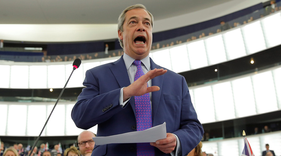 Farage calls Juncker 'bloody rude' and 'a bully' for criticizing Theresa May (VIDEO)