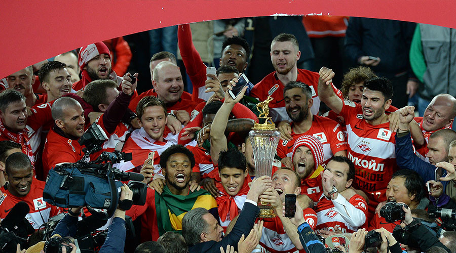 Crowning glory: Russian champions Spartak presented with 1st league trophy since 2001
