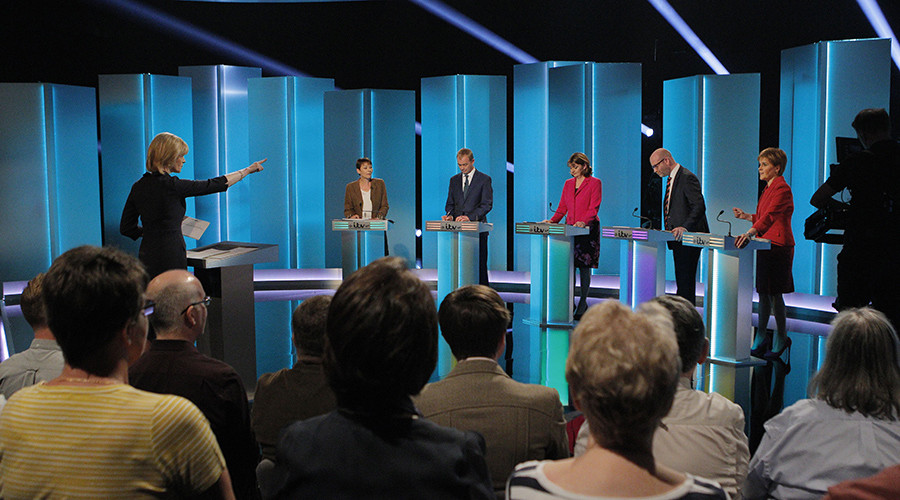May & Corbyn face backlash for no-show at 'second-rate' leaders' TV debate