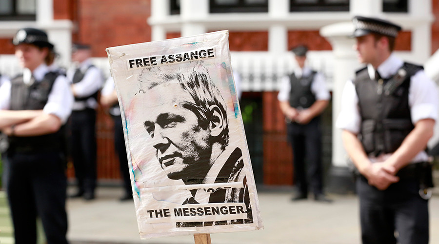 Downing Street protesters say police plan to arrest Assange is 'beyond the pale'