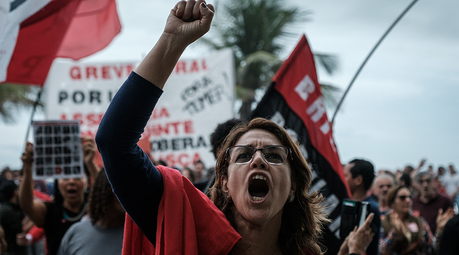 Thousands rally across Brazil as pressure builds on Temer to step down (VIDEO)