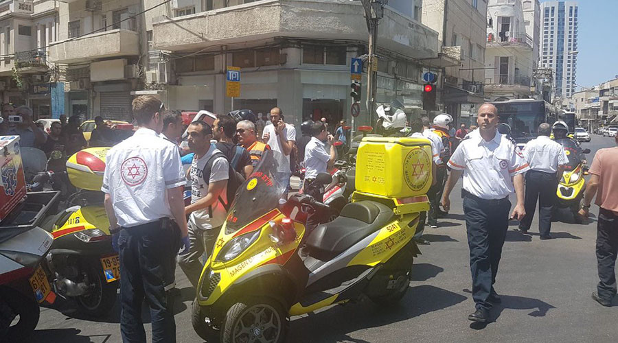 Car crash with passers-by injured in central Tel Aviv (PHOTOS, VIDEO)