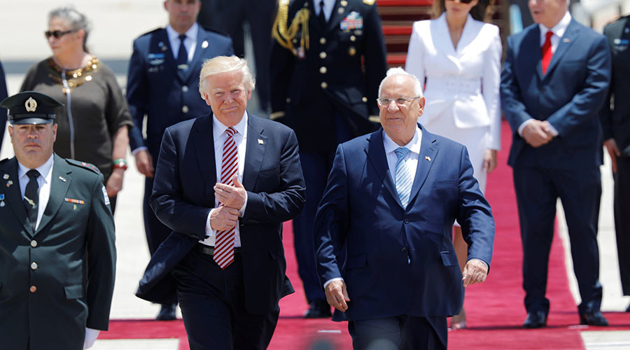 Israel pushes to legalize West Bank settlements as Trump arrives in Tel Aviv