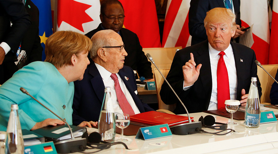 Trump causes rift on climate change at G7 conference