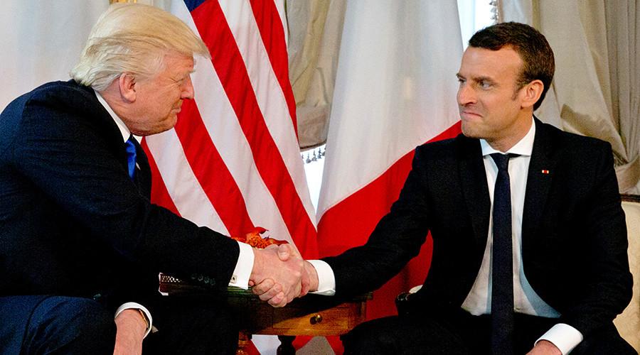 'Moment of truth': Macron admits Trump handshake 'wasn't innocent' (VIDEO)