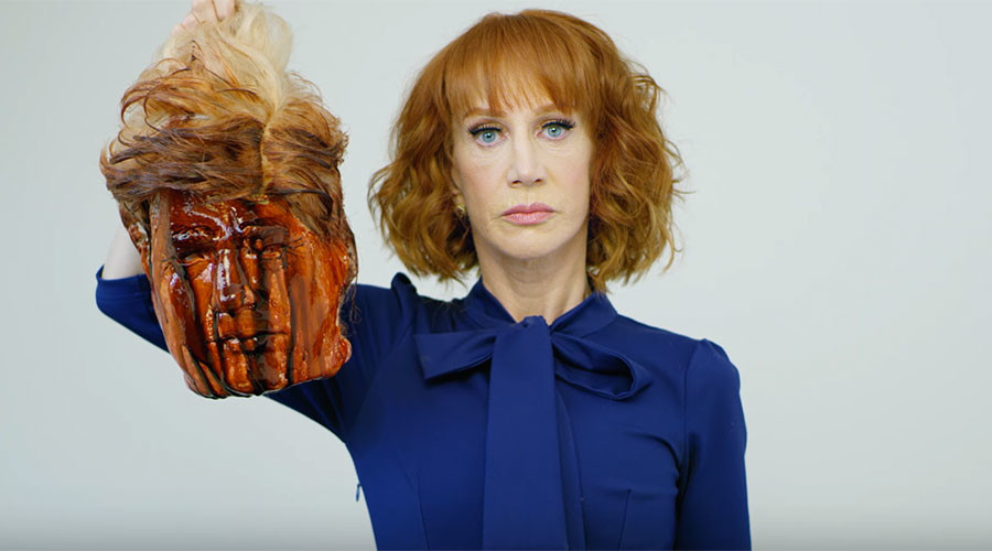Comedian Kathy Griffin apologizes amid backlash over bloody Trump beheading photo