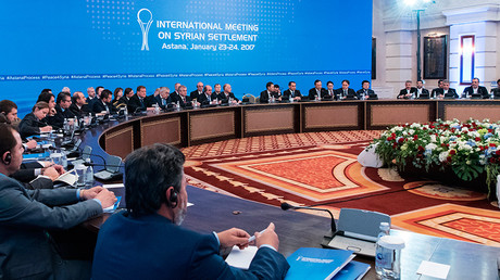 FILE PHOTO: Participants in a meeting on Syria in Astana © Bolat Shaikhinov
