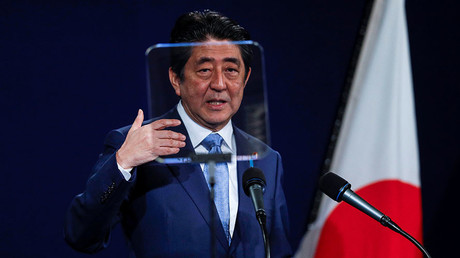 Japan's Prime Minister Shinzo Abe. ©Peter Nicholls