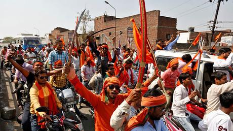 Hindu Yuva Vahini vigilante members. ©Cathal McNaughton