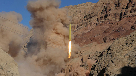A ballistic missile is launched and tested in an undisclosed location, Iran, March 9, 2016. © Mahmood Hosseini