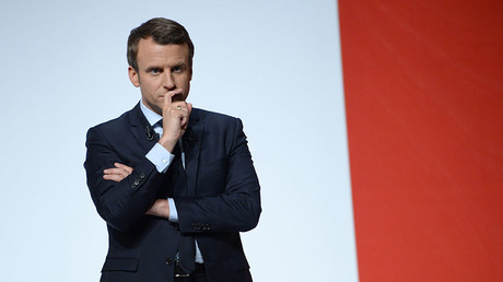 French presidential election candidate for the En Marche ! movement Emmanuel Macron. ©Guillaume Souvant