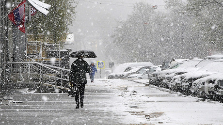 Snowfall, Moscow, May 8, 2017 © Vladimir Fedorenko / Sputnik