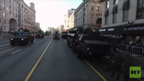 V-Day Parade 360: Military equipment rumbles through Moscow streets