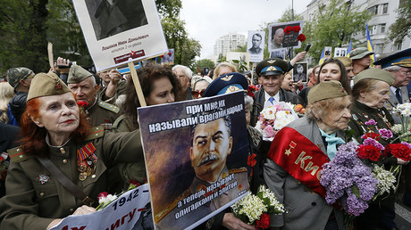 People take part in the Immortal Regiment march during the Victory Day celebrations in Kiev, Ukraine, May 9, 2017 © Valentyn Ogirenko