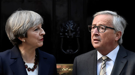 Britain's Prime Minister Theresa May and Head of the European Commission, President Jean-Claude Juncker. © Hannah McKay