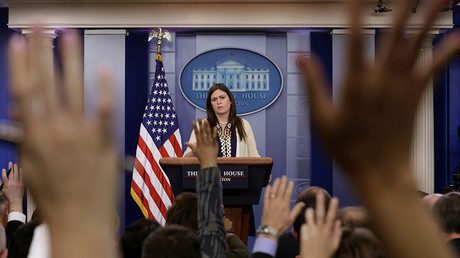 White House spokeswoman Sarah Sanders  © Kevin Lamarque