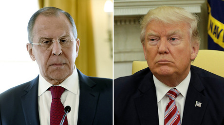 Russian Foreign Minister Sergey Lavrov (L), U.S. President Donald Trump (R) © Reuters